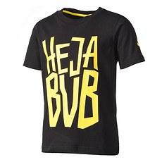 Puma Borussia Dortmund T-Shirt HEJA BVB Kinder Schwarz