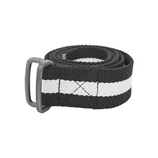 URBAN CLASSICS Gürtel Stripe schwarz/weiß