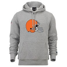 New Era Cleveland Browns Hoodie Team Logo grau