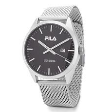 FILA Herrenuhr Milanese Armband Silber/Schwarz