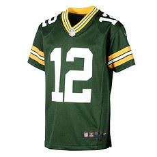 Nike Green Bay Packers AARON RODGERS 12 Trikot Kinder grün