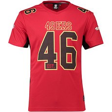 Majestic Athletic San Francisco 49ers T-Shirt Moro Poly Mesh rot