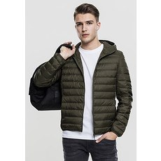 URBAN CLASSICS Jacke Basic Down Hooded olive