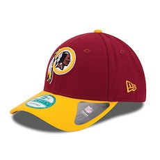 New Era Washington Redskins Cap The League Team rot/gelb