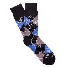 Copa Socken Argyle Pitch schwarz/grau/blau