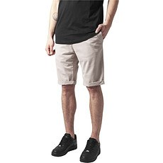 URBAN CLASSICS Chino Shorts Stretch Turnup sand