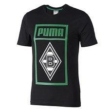 Puma Borussia Mönchengladbach T-Shirt Shoe Tag schwarz
