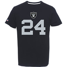 Majestic Athletic Oakland Raiders T-Shirt Lynch No 24 schwarz