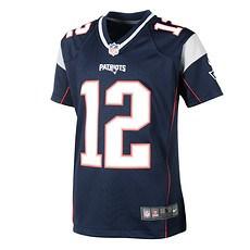Nike New England Patriots TOM BRADY 12 Trikot Kinder blau