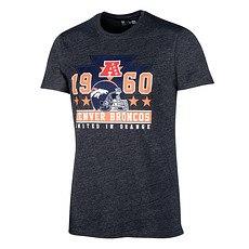 New Era Denver Broncos T-Shirt Triangle Classic grau