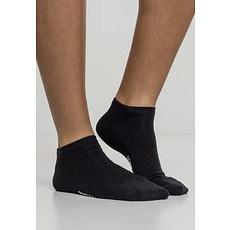 URBAN CLASSICS Socken Logo No Show 5er-Pack schwarz