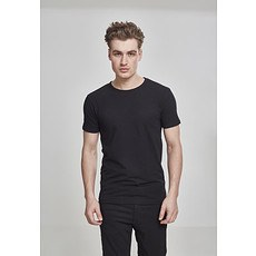 URBAN CLASSICS T-Shirt Fitted Stretch Schwarz