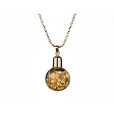 Yves Camani Anhänger Glas Pumpkin Gold