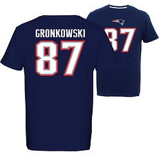 Majestic Athletic New England Patriots T-Shirt Gronkowski No 87 navy