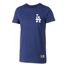 Majestic Athletic LA Dodgers T-Shirt Longline navy