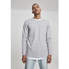 URBAN CLASSICS Longsleeve Stretch Terry grau
