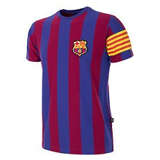 Copa FC Barcelona Short Sleeve Retro Shirt Captain