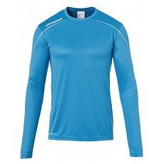 uhlsport Trainingsshirt Langarm Stream 22 cyan/weiß
