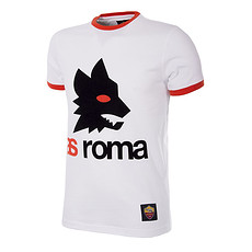 Copa AS Rom T-Shirt Retro Logo weiß