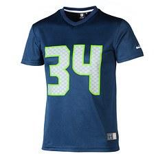 Majestic Athletic Seattle Seahawks PolyMesh T-Shirt Rawls Nr 34 blau