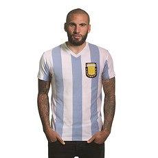 Copa Argentinien 1982 T-Shirt V-Neck weiß/blau