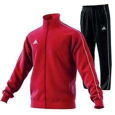 Adidas Trainingsanzug Core 18 Rot/Schwarz