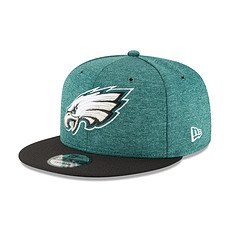 New Era Philadelphia Eagles Cap 9FIFTY Sideline 2018 grün