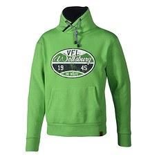 VfL Wolfsburg Hoodie Stempel grün