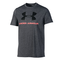 Under Armour T-Shirt CC Sportstyle Logo grau