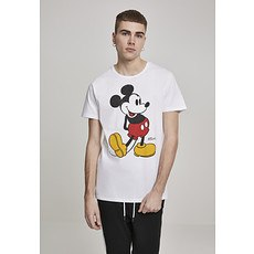 MERCHCODE T-Shirt Mickey Mouse weiß