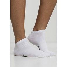 URBAN CLASSICS Socken Logo No Show 5er-Pack weiß