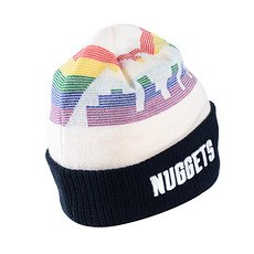 New Era Denver Nuggets Beanie Knit weiß