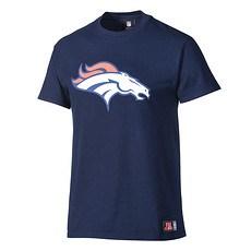 Majestic Athletic Denver Broncos T-Shirt Logo blau