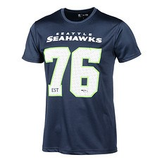 New Era Seattle Seahawks T-Shirt Supporters blau