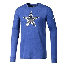 Nike Dallas Cowboys Langarm Shirt HISTORIC Blau