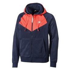 Nike Kapuzensweatjacke HOODIE Zipper Blau/Rot