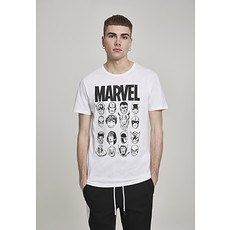 MERCHCODE T-Shirt Marvel Crew weiß