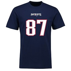 Majestic Athletic New England Patriots T-Shirt N&N Gronkowski No 87 navy