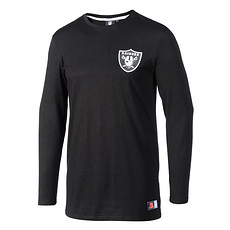 Majestic Athletic Oakland Raiders Longsleeve Longline schwarz