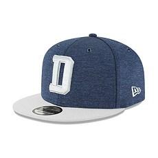 New Era Dallas Cowboys Cap 9FIFTY Sideline 2018 blau