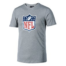 New Era T-Shirt NFL Shield Logo hellgrau