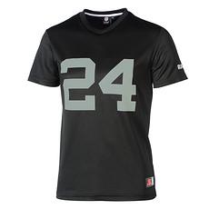 Majestic Athletic Oakland Raiders PolyMesh T-Shirt Lynch Nr 24 schwarz