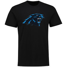 Majestic Athletic Carolina Panthers T-Shirt Splatter schwarz