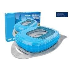 nanostad 3D Stadion Puzzle Allianz Arena München blau