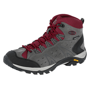 Brütting Trekking Stiefel Mount Bona High Damen grau/bordeaux