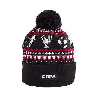 Copa Beanie Nordic Knit schwarz/rot/weiß