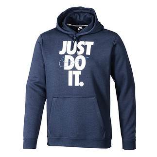 Nike Hoodie JUST DO IT. Dunkelblau