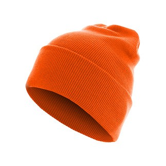 MasterDis Beanie Basic Flap Long neonorange