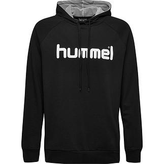 hummel Hoodie Cotton Logo schwarz