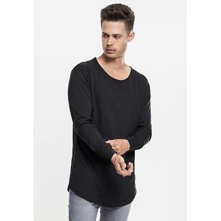 URBAN CLASSICS Sweatshirt Long Shaped Fashion Schwarz